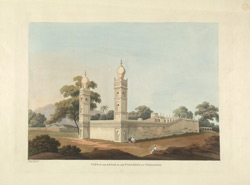 'View of the Assar in the fortress at Cuddapah'.  Engraving by Capt. Thomas Fraser, c.1812.